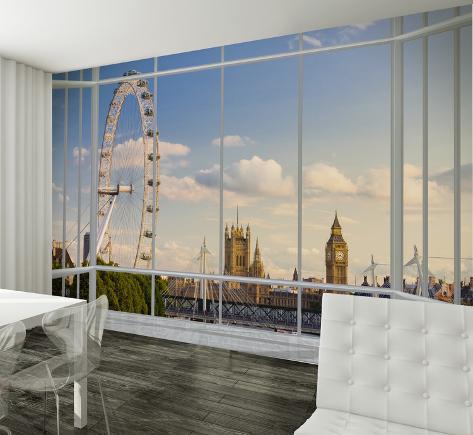 london window view wallpaper mural