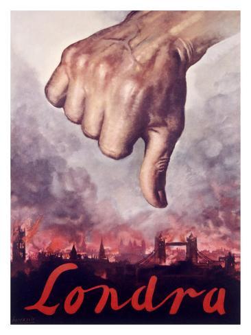 Londra, Italian Fascist Propaganda Giclee Print