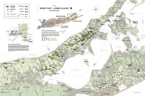 Long Island Wine Map Poster Poster