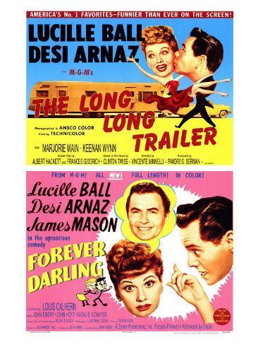 Long, Long Trailer, The / Forever Darling, 1954 Art Print
