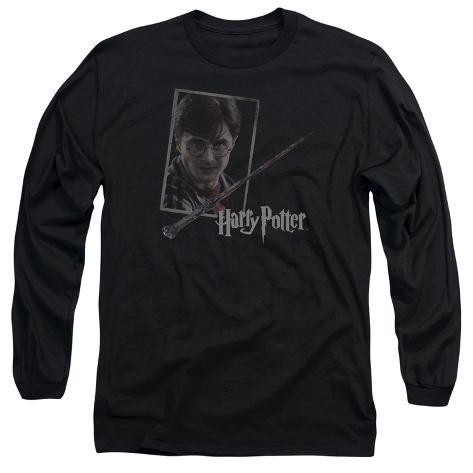 Long Sleeve: Harry Potter- Wand And Portrait Long Sleeves