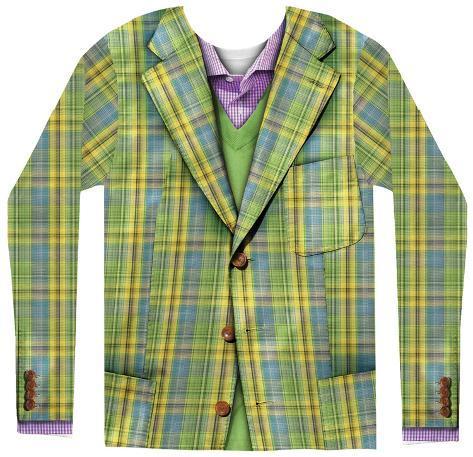 Long Sleeve: Plaid Suit Long Sleeves