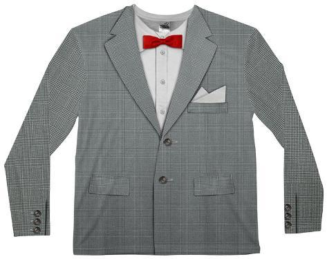 Long Sleeve: Retro Bow Tie Suit Tee Long Sleeves