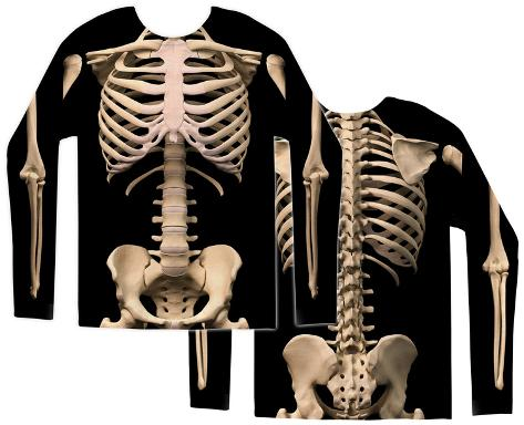Long Sleeve: Skeleton Costume Tee Camisetas de manga larga