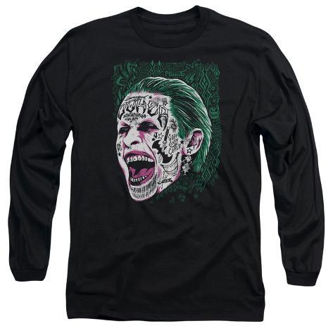 Long Sleeve: Suicide Squad- Joker Tattoo Headshot Long Sleeves