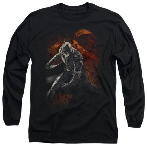 Long Sleeve: The Dark Knight Rises - Grungy Knight Longsleeve Shirt