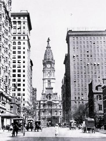 Looking North on Broad Street, Philadelphia, Pennsylvania Photo