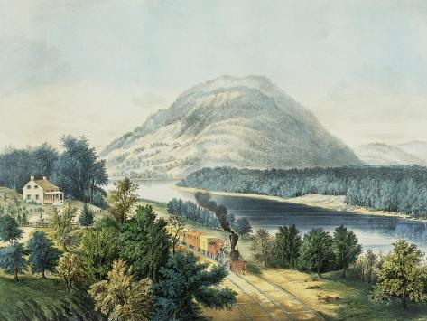 Lookout Mountain, Tennessee and the Chattanooga Railroad Giclee Print