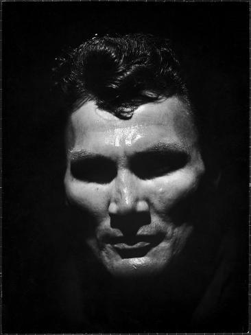 Portrait of Actor Jack Palance Looking Like a Jack O' Lantern Premium Photographic Print