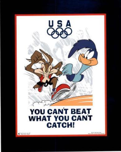 Looney Tunes Olympics Roadrunner & Coyote Mini Poster