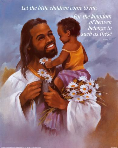 Cristo con niño Lámina