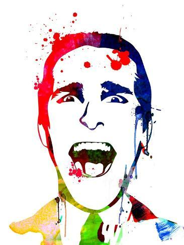 American Psycho Watercolor Konstprint