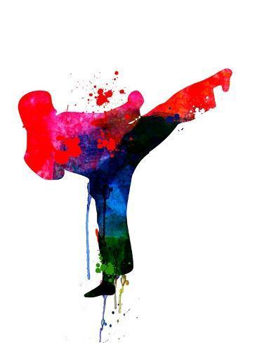 Karate Kid Watercolor Art Print