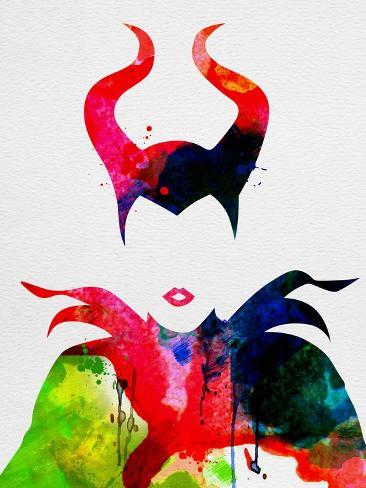 Maleficent Watercolor Lámina