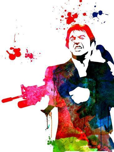 Tony Watercolor Lámina giclée prémium