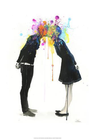 Big Bang Kiss Art Print
