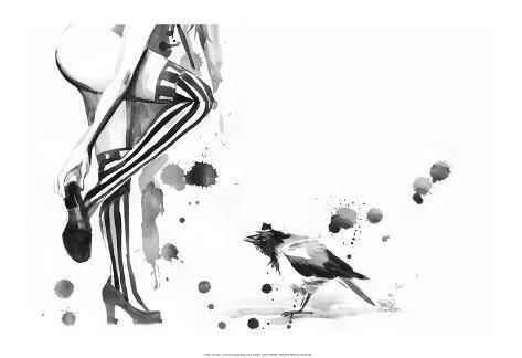 White Stripes Art Print