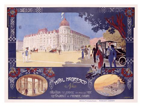 Hotel Negresco Giclee Print