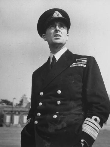Lord Louis Mountbatten in Uniform During WWII Photographic Print
