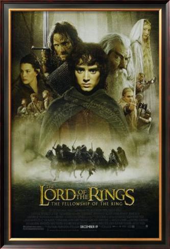 Lord Of The Rings: Fellowship Of the Ring Impressão artística emoldurada