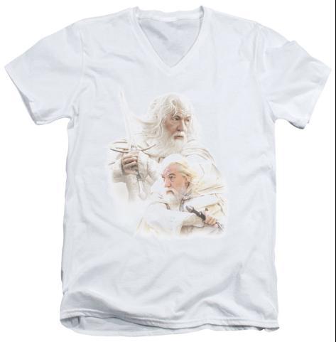 Lord Of The Rings - Gandalf The White V-Neck V-Necks