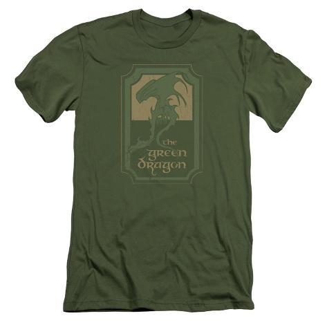 Lord Of The Rings- Green Dragon Tavern Slim Fit T-Shirt