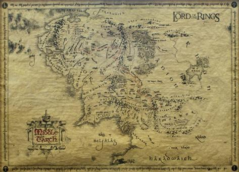 Lord of the Rings-Map ポスター