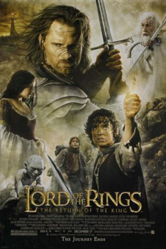 Lord of The Rings Return of The King Movie Poster Poster double face