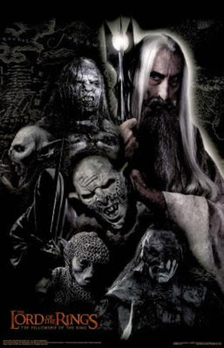 Lord of the Rings The Fellowship of the Ring Saruman and Orcs Movie Poster Poster