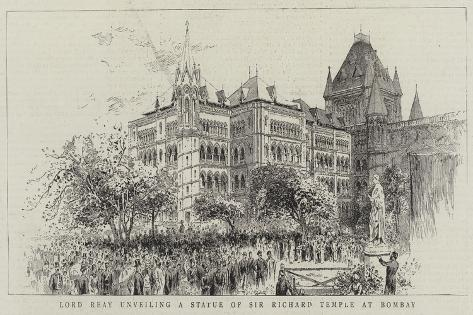 Lord Reay Unveiling a Statue of Sir Richard Temple at Bombay Giclee Print