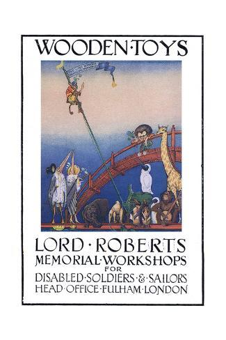 Lord Roberts Memorial Workshop Poster, 1917 Stampa giclée