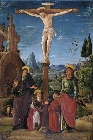 The Crucifixion With Mary John Mary Magdalene And A Benefactor C