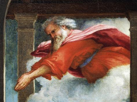 The Eternal Father, Detail from the Annunciation, Ca 1434 Lámina giclée