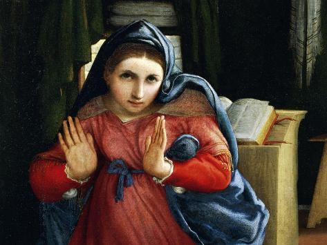 The Virgin Announced, Detail from the Annunciation, Ca 1434 Lámina giclée