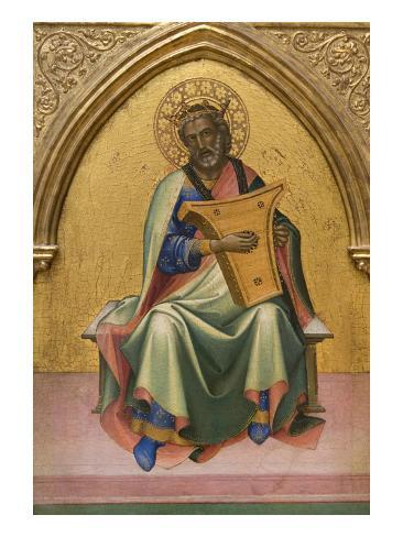 David with Lyre Art Print