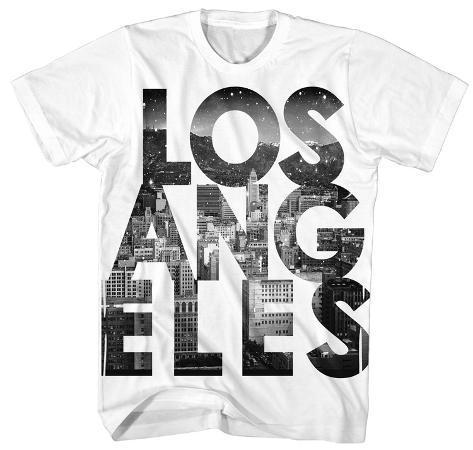 Los angeles at night block t shirts for T shirt printing downtown los angeles