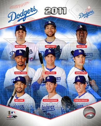 Los Angeles Dodgers 2011 Team Composite Photo