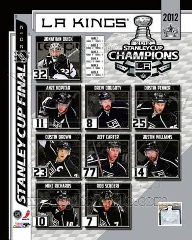 Los Angeles Kings 2012 NHL Stanley Cup Champions Composite Photo