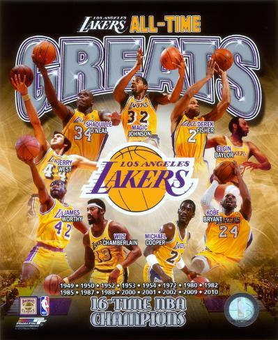 Los Angeles Lakers All Time Greats Composite Photo