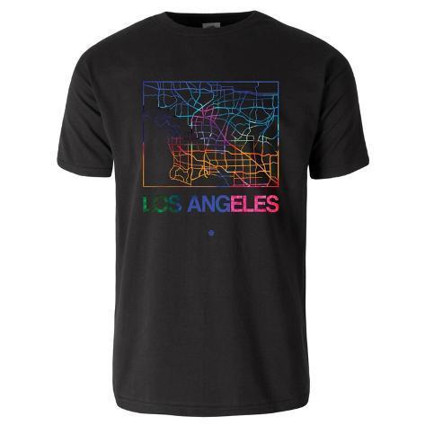 Los angeles watercolor street map t shirt t shirts for Los angeles california shirt