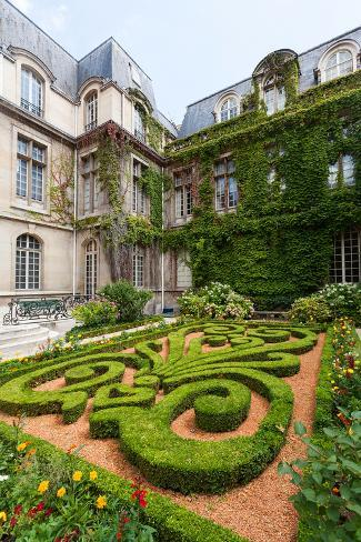Beautiful Ornate Gardens of Carnavalet Museum Photographic Print