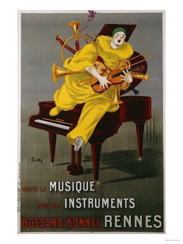 Toute la Musique, Tous Les Instruments, 1925 Lámina giclée
