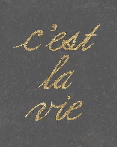 C'est La Vie - Simple Giclee Print