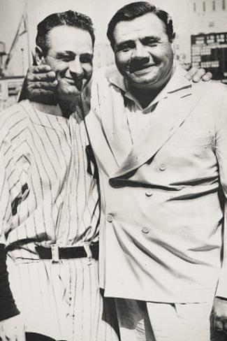 Lou Gehrig and Babe Ruth New York Yankees Archival Photo Sports Poster Print Masterprint