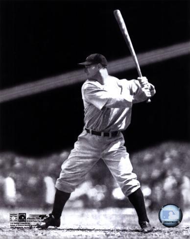 Lou Gehrig - Batting Action Photo