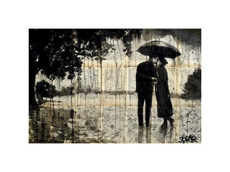 Rainy Day Rendezvous Giclee Print