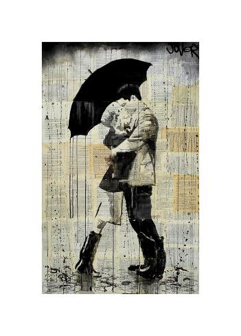 The Black Umbrella Giclee Print