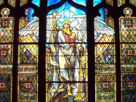 Angel of the Resurrection Stained Glass Window Photographic Print