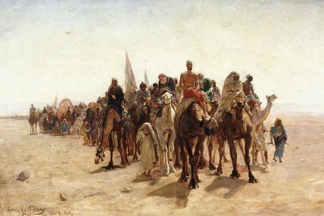 Pilgrims Going to Mecca; Pelerins Allant a La Mecque, 1890 Giclee Print