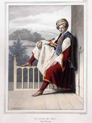 Portrait, Du Vues Et De Costumes Grecs Et Ottomans from Voyage a Athenes Et a Constantinople, 1825 Lámina giclée
